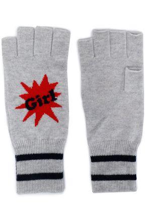 AUTUMN CASHMERE Mélange cashmere fingerless gloves