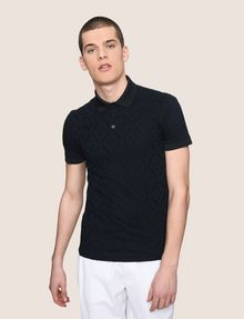 ARMANI EXCHANGE LOGO DIAMOND JACQUARD POLO SHORT SLEEVES POLO Man f