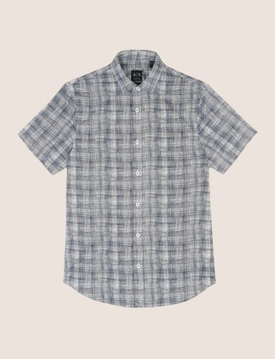 SHORT-SLEEVE CROSSHATCH SHIRT