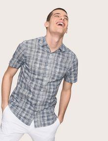 ARMANI EXCHANGE SHORT-SLEEVE CROSSHATCH SHIRT Short sleeve shirt Man a
