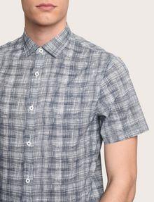 ARMANI EXCHANGE SHORT-SLEEVE CROSSHATCH SHIRT Short sleeve shirt Man b