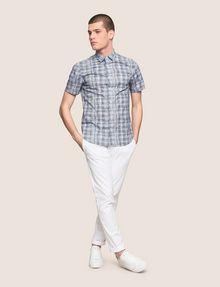 ARMANI EXCHANGE SHORT-SLEEVE CROSSHATCH SHIRT Short sleeve shirt Man d