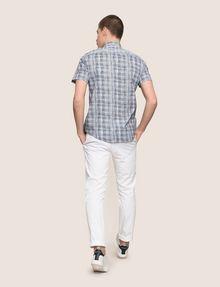 ARMANI EXCHANGE SHORT-SLEEVE CROSSHATCH SHIRT Short sleeve shirt Man e