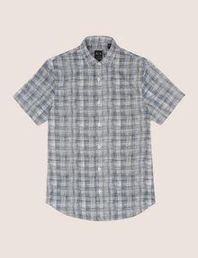 ARMANI EXCHANGE SHORT-SLEEVE CROSSHATCH SHIRT Short sleeve shirt Man r