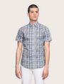ARMANI EXCHANGE SHORT-SLEEVE CROSSHATCH SHIRT Short sleeve shirt Man f