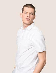 ARMANI EXCHANGE SHORT-SLEEVE VARIEGATED STRIPE REGULAR-FIT SHIRT Short sleeve shirt Man a