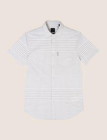 ARMANI EXCHANGE SHORT-SLEEVE VARIEGATED STRIPE REGULAR-FIT SHIRT Short sleeve shirt Man r