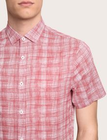 ARMANI EXCHANGE SHORT-SLEEVE CROSSHATCH SHIRT Short sleeve shirt Man b