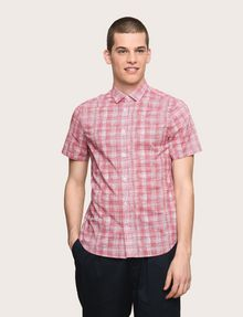 ARMANI EXCHANGE SHORT-SLEEVE CROSSHATCH SHIRT Short sleeve shirt Man f