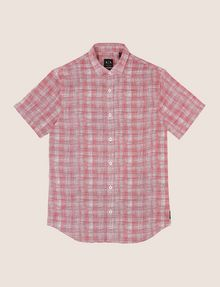 ARMANI EXCHANGE SHORT-SLEEVE CROSSHATCH SHIRT Short sleeve shirt Man r