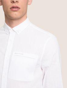 ARMANI EXCHANGE LINEN BLEND CHAMBRAY REGULAR-FIT SHIRT Long sleeve shirt Man b