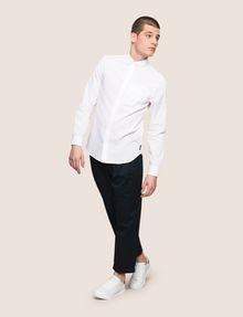 ARMANI EXCHANGE LINEN BLEND CHAMBRAY REGULAR-FIT SHIRT Long sleeve shirt Man d