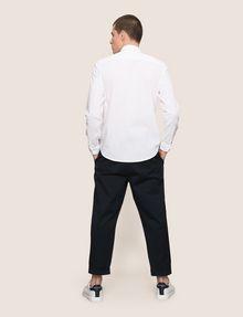 ARMANI EXCHANGE LINEN BLEND CHAMBRAY REGULAR-FIT SHIRT Long sleeve shirt Man e