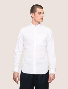 ARMANI EXCHANGE LINEN BLEND CHAMBRAY REGULAR-FIT SHIRT Long sleeve shirt Man f