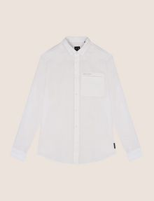 ARMANI EXCHANGE LINEN BLEND CHAMBRAY REGULAR-FIT SHIRT Long sleeve shirt Man r