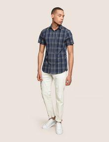 ARMANI EXCHANGE SLIM-FIT STRETCH PLAID SHIRT Short sleeve shirt Man d