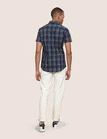 ARMANI EXCHANGE SLIM-FIT STRETCH PLAID SHIRT Short sleeve shirt Man e