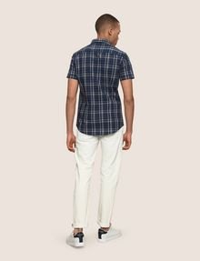 ARMANI EXCHANGE SLIM-FIT STRETCH PLAID SHIRT Short sleeve shirt [*** pickupInStoreShippingNotGuaranteed_info ***] e