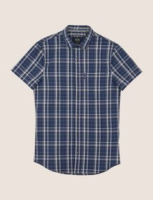 ARMANI EXCHANGE SLIM-FIT STRETCH PLAID SHIRT Short sleeve shirt Man r