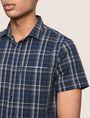 ARMANI EXCHANGE SLIM-FIT STRETCH PLAID SHIRT Short sleeve shirt Man b
