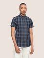 ARMANI EXCHANGE SLIM-FIT STRETCH PLAID SHIRT Short sleeve shirt [*** pickupInStoreShippingNotGuaranteed_info ***] f
