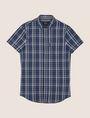 ARMANI EXCHANGE SLIM-FIT STRETCH PLAID SHIRT Short sleeve shirt [*** pickupInStoreShippingNotGuaranteed_info ***] r