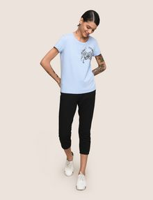 ARMANI EXCHANGE SUNBLEACHED CRAB TEE Logo T-shirt Woman d