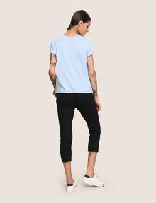 ARMANI EXCHANGE SUNBLEACHED CRAB TEE Logo T-shirt Woman e
