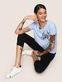 ARMANI EXCHANGE SUNBLEACHED CRAB TEE Logo T-shirt Woman a