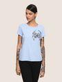 ARMANI EXCHANGE SUNBLEACHED CRAB TEE Logo T-shirt Woman f