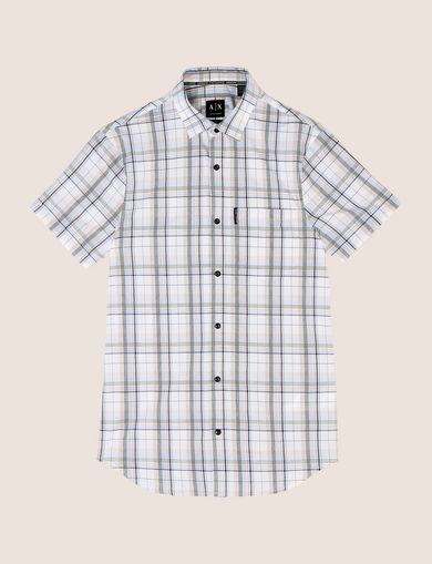SLIM-FIT STRETCH PLAID SHIRT