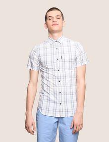 ARMANI EXCHANGE SLIM-FIT STRETCH PLAID SHIRT Short sleeve shirt Man f