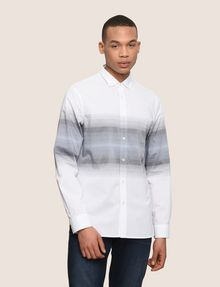 ARMANI EXCHANGE REGULAR-FIT OMBRE STRIPE SHIRT Long-Sleeved Shirt Man f