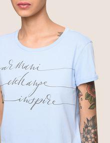 ARMANI EXCHANGE CALLIGRAPHY INSPIRE LOGO TEE Logo T-shirt Woman b