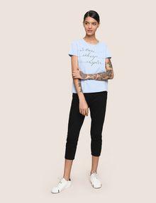 ARMANI EXCHANGE CALLIGRAPHY INSPIRE LOGO TEE Logo T-shirt Woman d