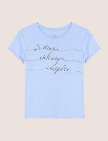ARMANI EXCHANGE CALLIGRAPHY INSPIRE LOGO TEE Logo T-shirt Woman r