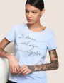 ARMANI EXCHANGE CALLIGRAPHY INSPIRE LOGO TEE Logo T-shirt Woman a