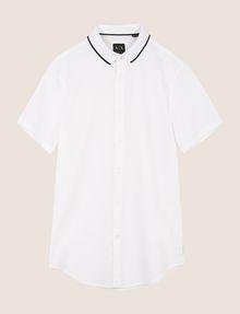ARMANI EXCHANGE SLIM-FIT TIPPED COLLAR SHIRT Short sleeve shirt Man r