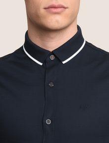 ARMANI EXCHANGE SLIM-FIT TIPPED COLLAR SHIRT Short sleeve shirt Man b