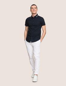 ARMANI EXCHANGE SLIM-FIT TIPPED COLLAR SHIRT Short sleeve shirt Man d