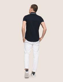ARMANI EXCHANGE SLIM-FIT TIPPED COLLAR SHIRT Short sleeve shirt Man e