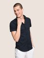 ARMANI EXCHANGE SLIM-FIT TIPPED COLLAR SHIRT Short sleeve shirt Man a