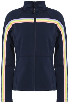 PURITY ACTIVE Striped stretch-jersey jacket