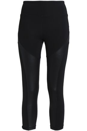 PURITY ACTIVE Cropped coated stretch leggings