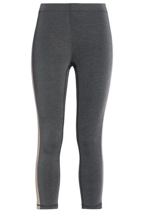 PURITY ACTIVE Cropped striped stretch leggings