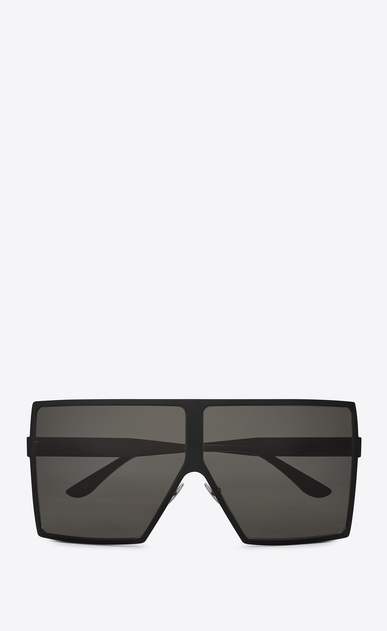 SAINT LAURENT NEW WAVE E new wave 182 betty sunglasses in matte black metal with smoked lenses a_V4
