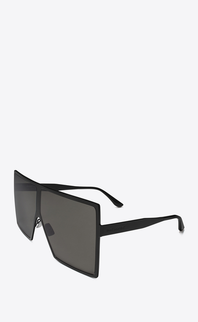 SAINT LAURENT NEW WAVE E new wave 182 betty sunglasses in matte black metal with smoked lenses b_V4