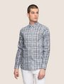ARMANI EXCHANGE CROSSHATCH REGULAR-FIT SHIRT Long sleeve shirt Man f