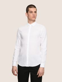 ARMANI EXCHANGE REGULAR FIT LINEN SHIRT Plain Shirt Man f