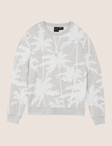 STRIPED PALMS SWEATSHIRT TOP